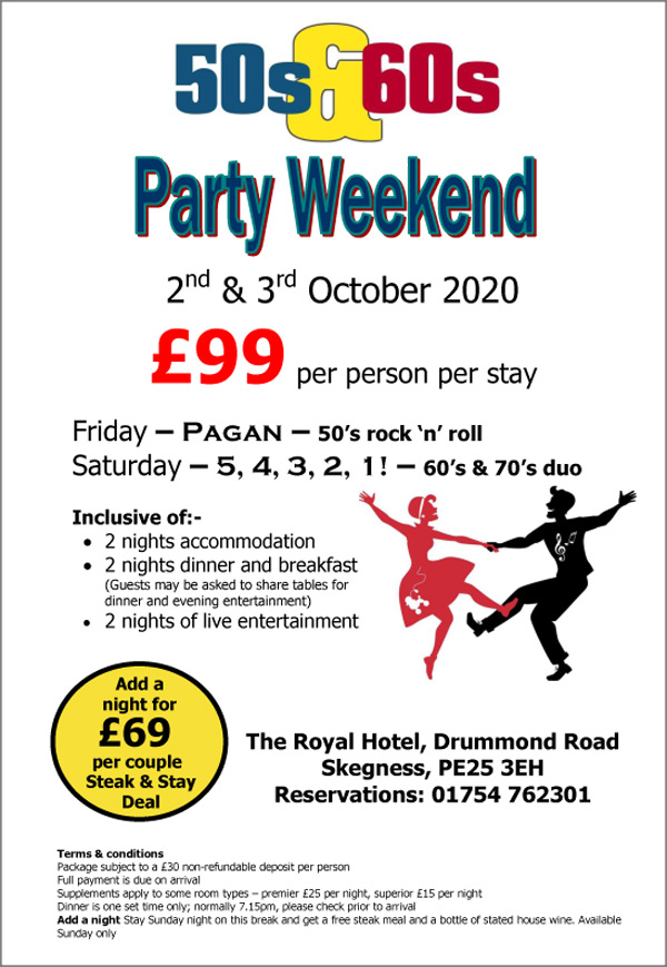 50s & 60s Party - 3rd October 2020
