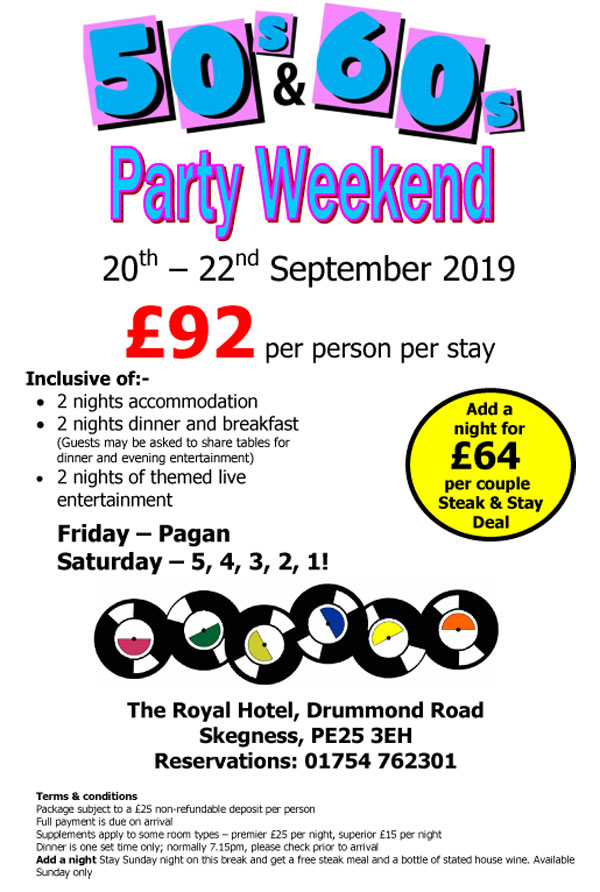 Party weekend September 2019