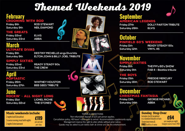 Themed weekends 2019